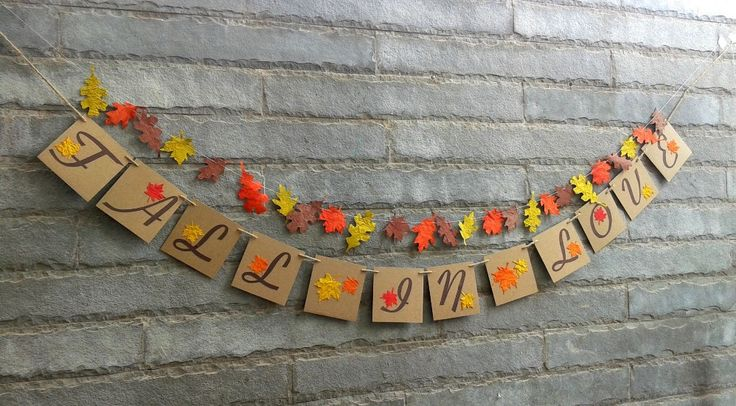 Ready To Ship - FALL IN LOVE  banner – Fall wedding, autumn wedding, bridal shower, engagement, reception, Fall décor, Fall photography prop by Sunshineatheart on Etsy https://www.etsy.com/listing/204446331/ready-to-ship-fall-in-love-banner-fall