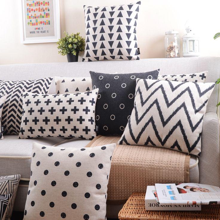 Aliexpress.com : Buy Hot selling brief fashion pillow geometry abstract fluid cushion sofa cushion & Best 25+ Black cushion covers ideas on Pinterest | Cushion covers ... pillowsntoast.com