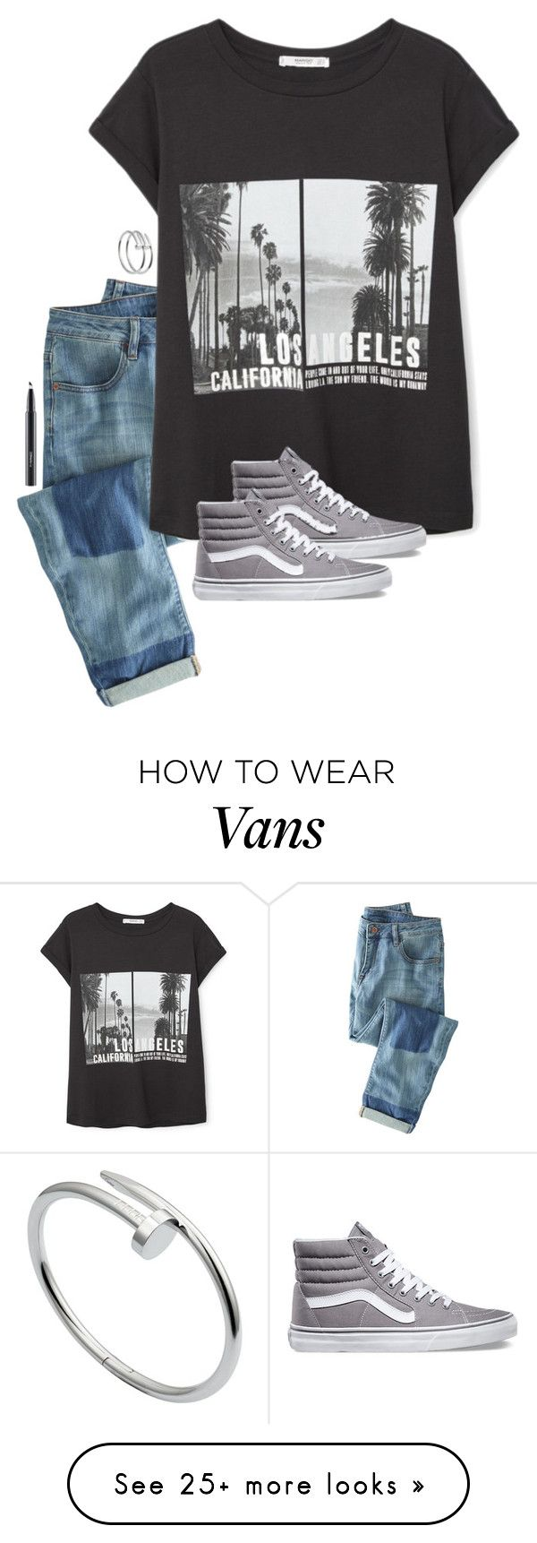 """""""and I just hope you know"""" by kenandsuch on Polyvore featuring Wrap, MANGO, Cartier, Vans, MAC Cosmetics, women's clothing, women's fashion, women, female and woman"""