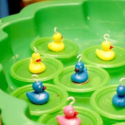 Birthday party ideas for kids carnival games carnivals for Fishing for ducks