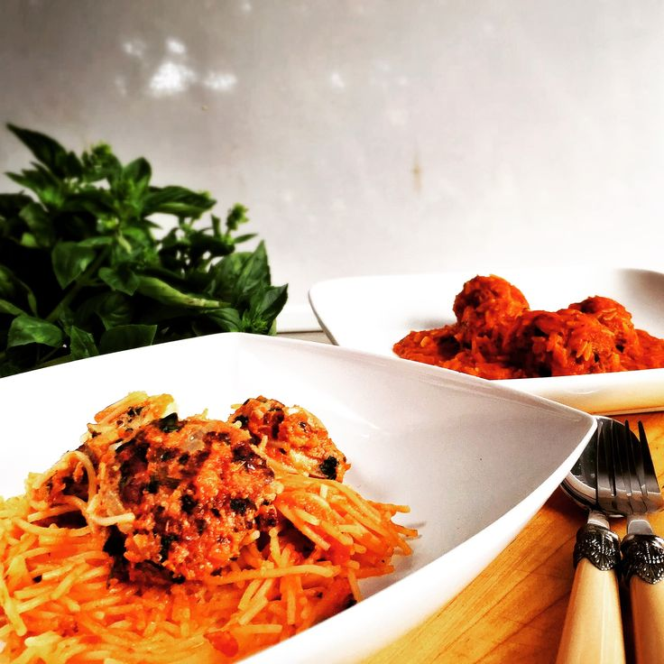 Gluten Free Meatball recipe. Simple recipe to save time for families with food intolerance. Soft, delicious meatballs from scratch, with spaghetti two ways.