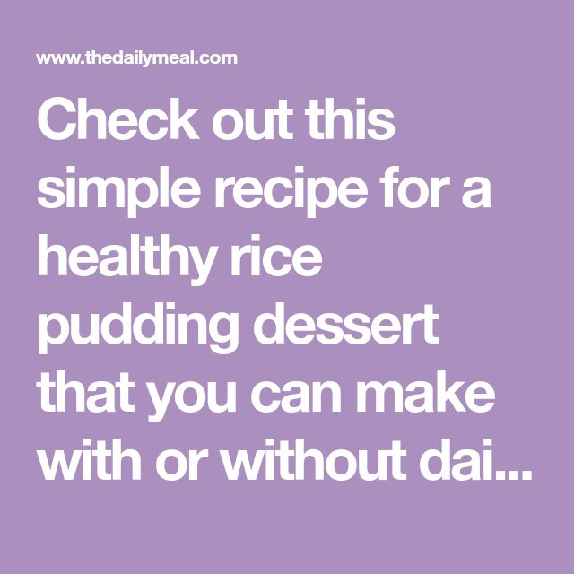 Check out this simple recipe for a healthy rice pudding dessert that you can make with or without dairy using your rice cooker.