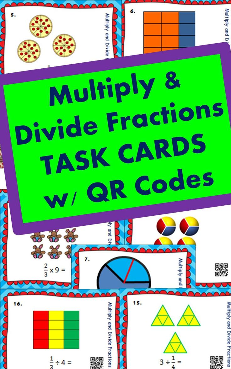 78 best math 6 images on pinterest math resources 5th grade math fractions multiply and divide fractions task cards fandeluxe Image collections