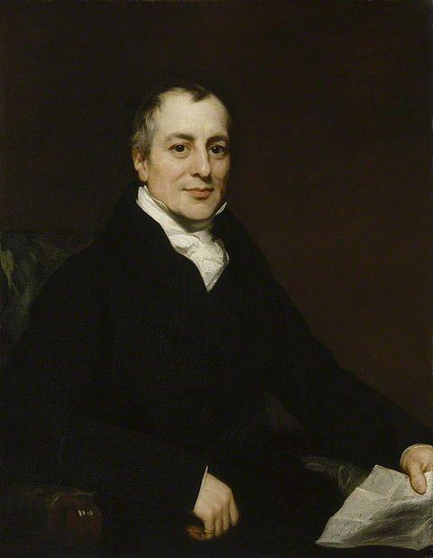 London-born political economist David Ricardo (1772 - 1823), painted by Thomas Phillips c. 1821.