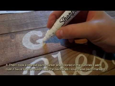 How To Easily Transfer Words on Wood - DIY Home Tutorial - Guidecentral - YouTube