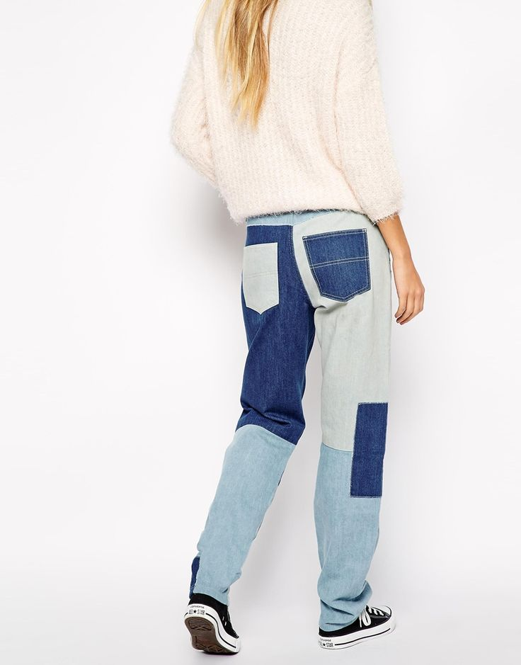 Image 2 of Noisy May Kim Patched Boyfriend Jeans