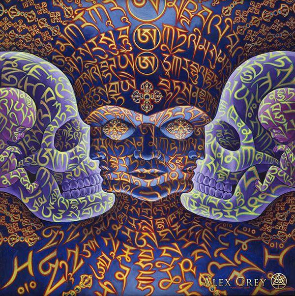 Réalisme psychédélique avec les peintures d'Alex Grey