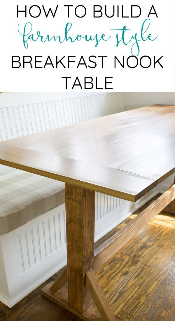 How to build a farmhouse breakfast nook table | Breakfast ...