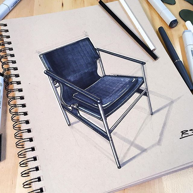 Pollock Chair sketch demo at JMU