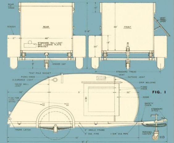 Teardrop Camper Build Plans | Teardrop Travel Trailer Floor Plans http://www.musicfestivaljunkies ...: