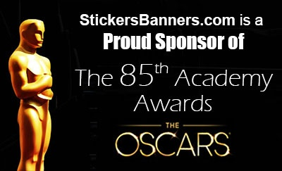 StickersBanners.com was contacted to sponsor the after-party of the 85th Academy Awards held Sunday, February 24, 2013 in Hollywood, California.