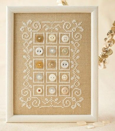 Buttons and cross stitch | Lesley Teare Thoughts on Design