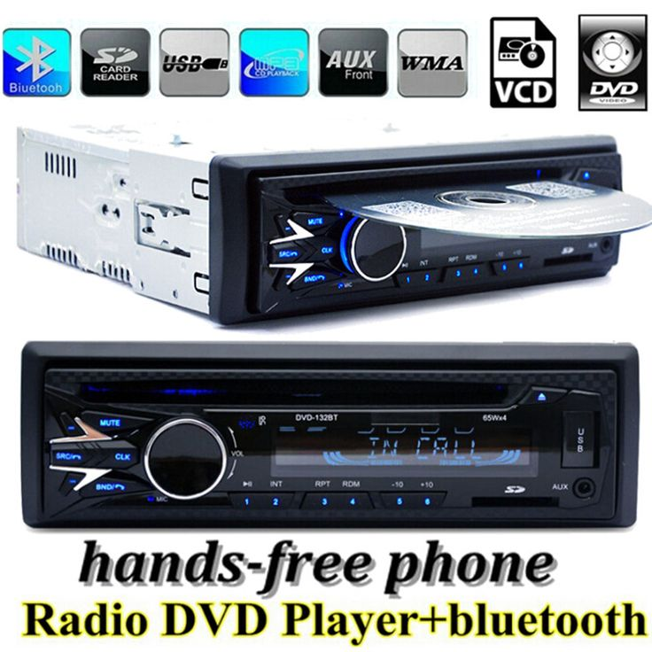 Bluetooth 1 DIN 12V Car Radio player New MP3 Audio Stereo FM Built in Bluetooth Phone DVD/VCD/CD/USB/SD MMC port Car Electronics Built-in Bluetooth + Microphone Support hands-free calls. Can play DVD/VCD/CD/CD-R/CD-RW/MP3/MP4/AVI/DAT/DIVX. Compatible with DVD-R / DVD-RW / VCD / CD-R / CD-RW disc media . Read SD / MMC / USB Insert the disc can ...