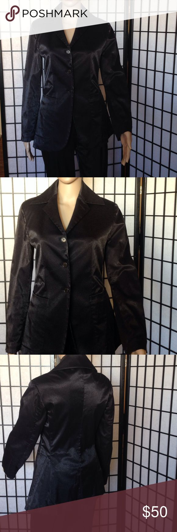 Black Women's Jacket Cotton and Polyamide jacket. Made in Italy. gigli Jackets & Coats Blazers