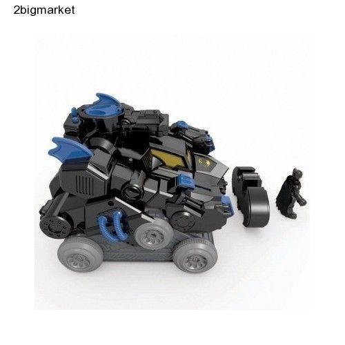 Batbot Imaginext Batman Tank Batmobile Robot Transforming RC Kids Christmas Gift #FisherPrice