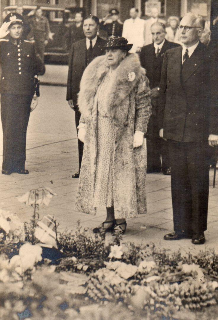 Queen Wilhelmina, 1945