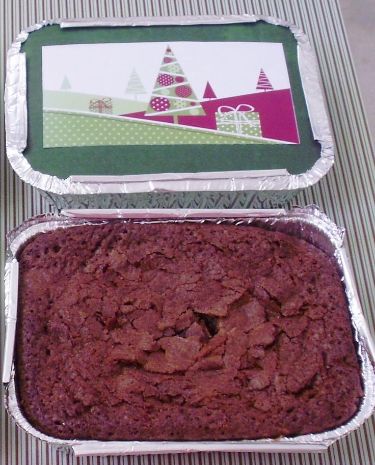 Pra Comer Rezando Doces e Chocolates: Marmita de Brownie - Natal 2011