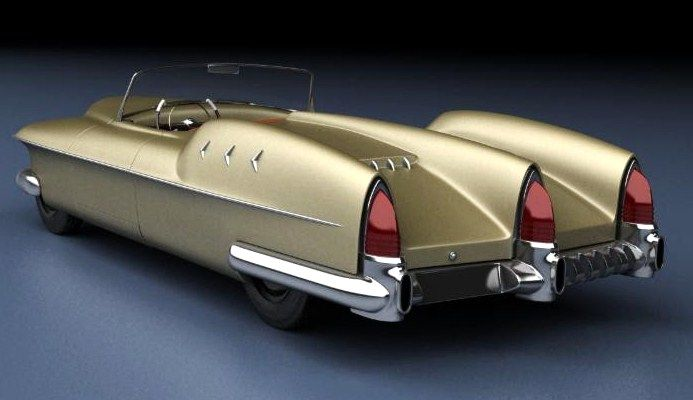 Canadian Auto Network pin:  The 1953 Manta Ray's triple taillights used Lincoln lenses