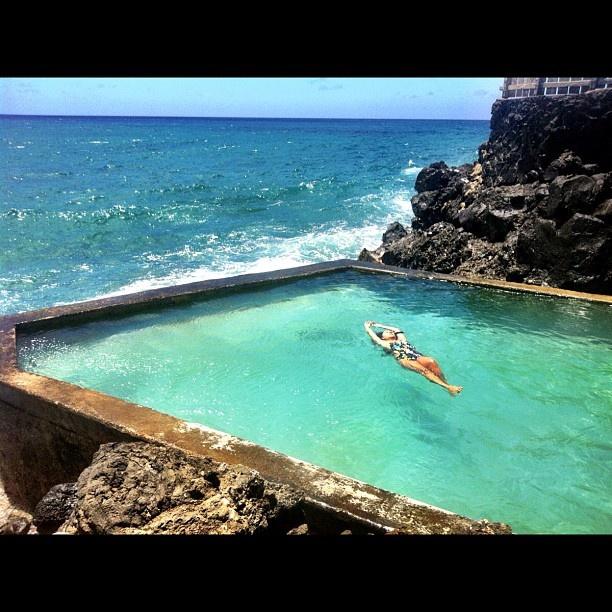 Ah nice salt water pool black point earth garden for Salt water pool