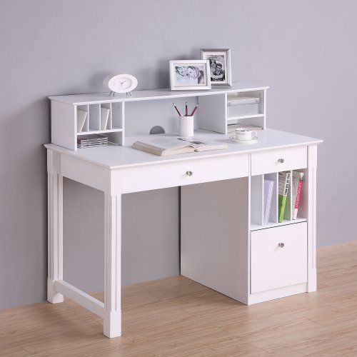 Deluxe Wood Desk with Hutch, White Finish Home Accent Furnishings http://www.amazon.com/dp/B00C2T6LDC/ref=cm_sw_r_pi_dp_W0v4tb1DCCFBY