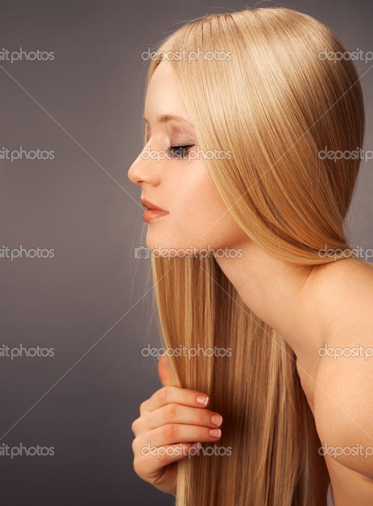 прямые светлые волосы профиль