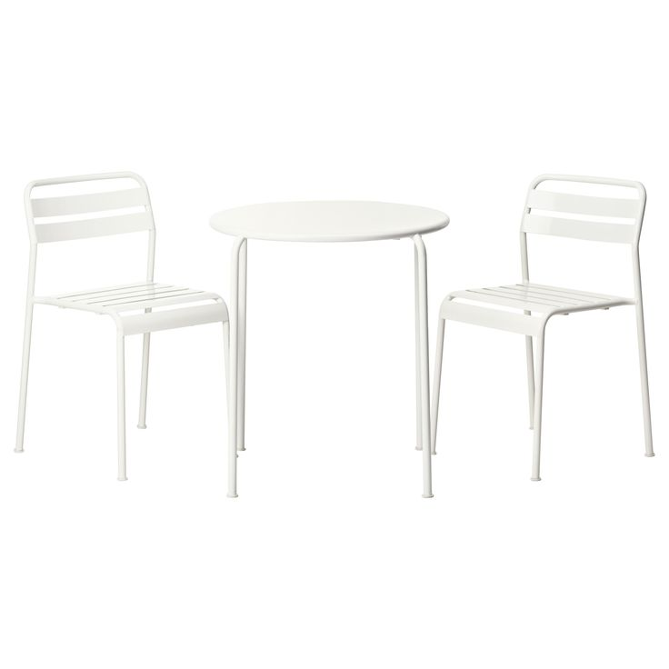 ROXÖ Bistro set - IKEA   outdoor table and chairs, stackable, steel, polypropylene