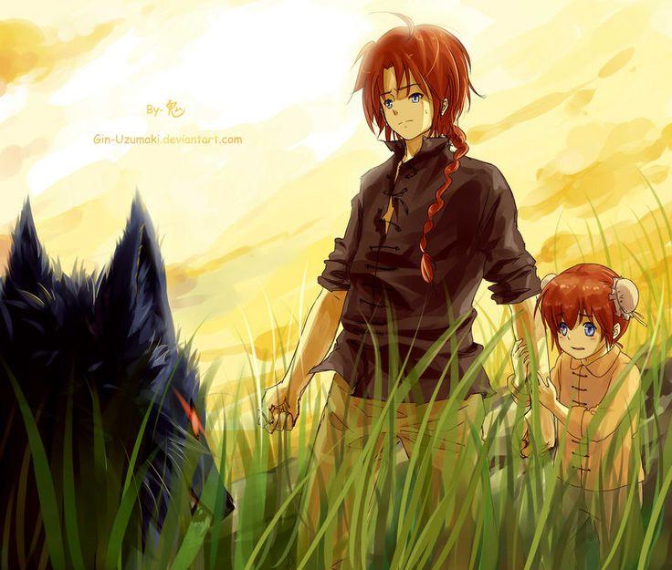 Gintama-young yato siblings by Gin-Uzumaki.deviantart.com on @DeviantArt