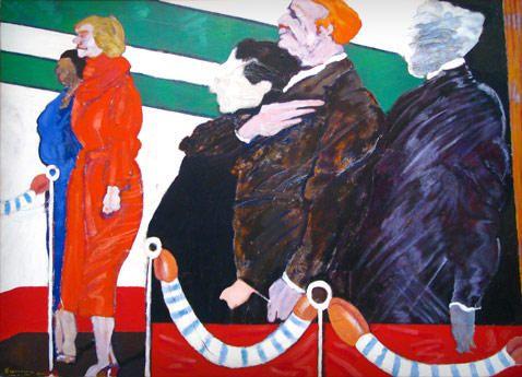 Pueden ver en vivo esta obra de #Gorriarena en el MNBA, El Palco (1980) #arte