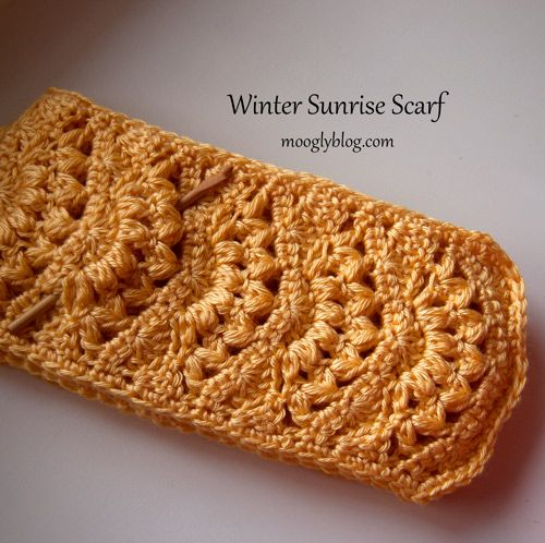 Winter Sunrise Scarf: gorgeous and free crochet pattern!...great for a gift, works up really fast