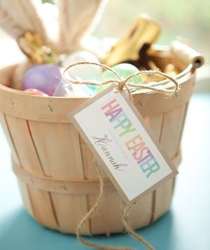 Downloadable tag for personalized Easter baskets
