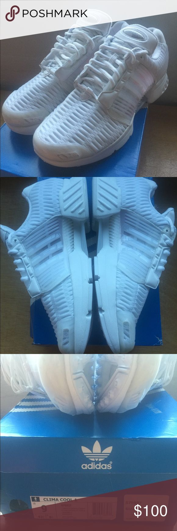 Adidas Climacool 1 Triple White Brand new in box Adidas Climacool 1 in size 9. Never worn, have been sitting in box since day 1. Box has some wear from the online store I ordered from not double boxing. Otherwise shoes are perfect. adidas Shoes Sneakers