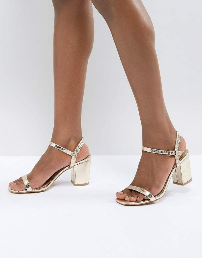 446c3a8866f Glamorous Gold Block Heel Sandals