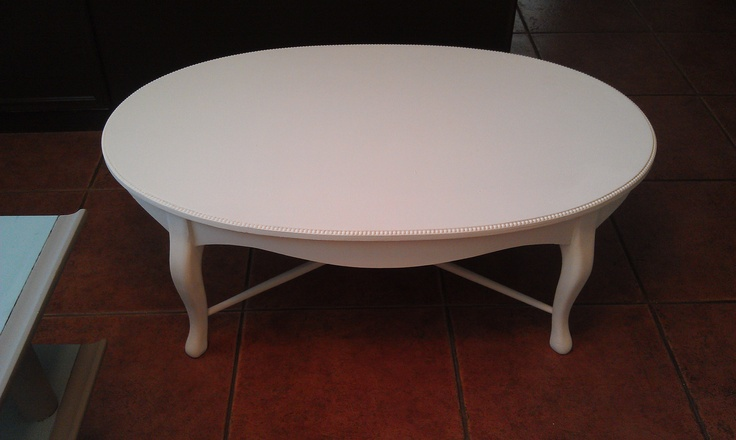 Vintage Coffee Table painted in ASCP Old White. Unique look! $125 plus tax