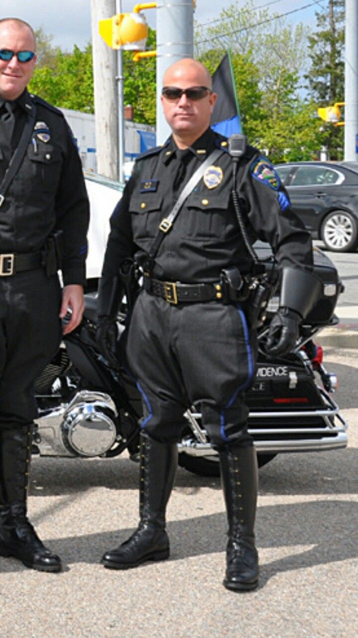 Cop With Boots Attire Civilian Uniform Men Cop