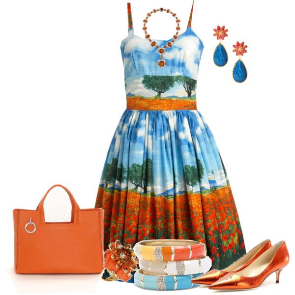 """""""Unique Printed Dresses-- from Modcloth Contest"""" by eula-eldridge-tolliver on Polyvore"""