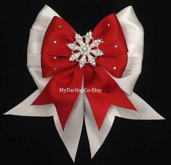 Red Holiday Bow Red Flower Girl Hair Bow by MyDarlingCompany