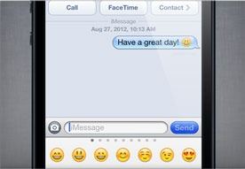 Apple - iPhone 5 - emoji keyboard! Awesome!