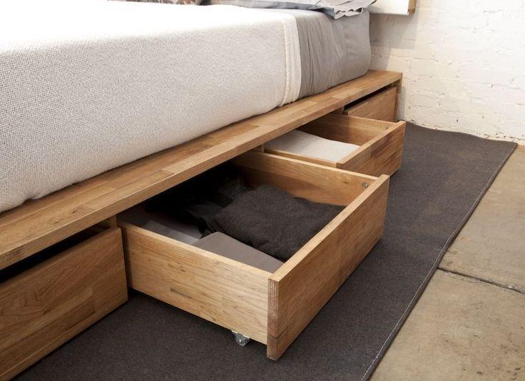 building a bed frame with drawers underneath bedroom storage making - Under Bed Storage Frame