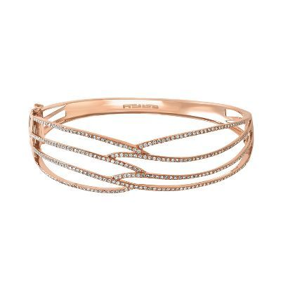 EFFY® 1 ct. tw. Diamond Bangle Bracelet in 14K Rose Gold  available at #HelzbergDiamonds