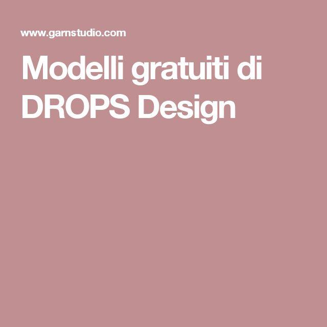 Modelli gratuiti di DROPS Design