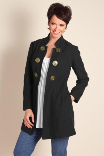 Jacqueline Jacket - Ladies Dressy Jacket With Oversized Buttons, Jackets & Coats | Soft SurroundingsRocks Big, Over Buttons, Big Buttons, Dressy Jackets, Bold Buttons, Mr. Big, Sue Style, Jacqueline Jackets, Black Jackets