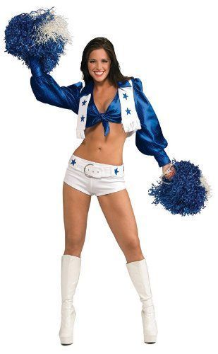 This is one of my favorite Sexy Halloween Costumes for Women  for Halloween 2017. You can elevate this  ladies Halloween costumes with the right Halloween jewelry, Halloween makeup  and of course the right pair of Halloween shoes. Overall one of the best sexy women's  Halloween Costume Idea      Secret Wishes Women's Dallas Cowboy Cheerleader Costume, White, Medium