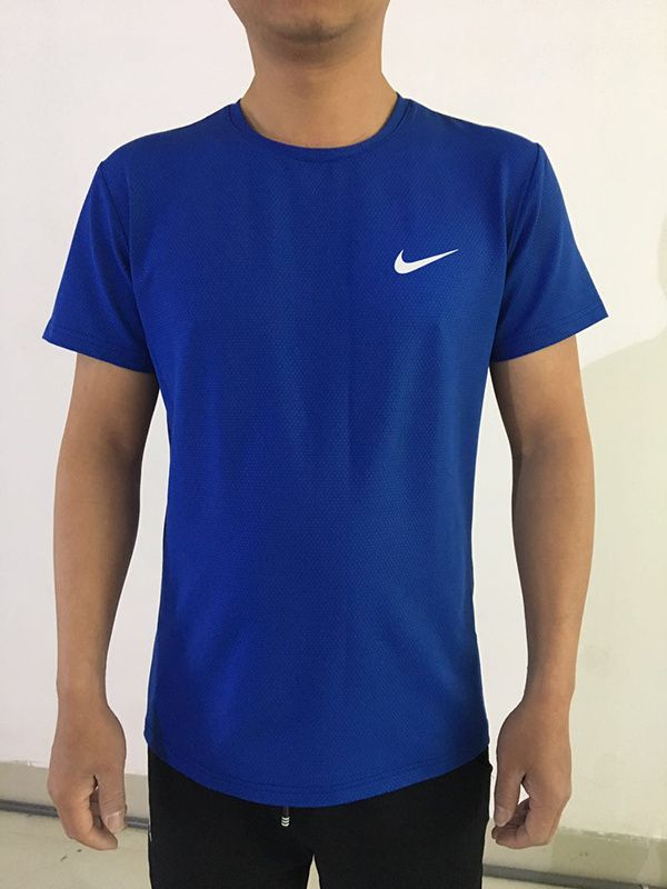 7b91a5ec Spring Summer 2018 Discount Nike T Shirts Short Sleeve Shirts Men PERFORMER  TREND TEE Blue
