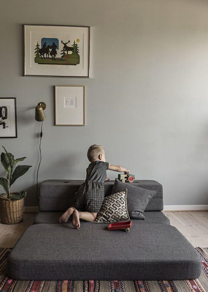 Foldesofa fra by KlipKlap's kollektion i en flot grå farve
