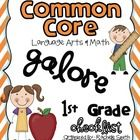 *This is the Math and Language Arts CCSS Checklist bundled together!This Common Core State Standards checklist is for 1st grade and has both the...