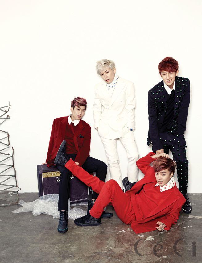 Hyun Seong, Jeong Min, Dong Hyun, Min Woo Starship Entertainment - Ceci Magazine December Issue '14
