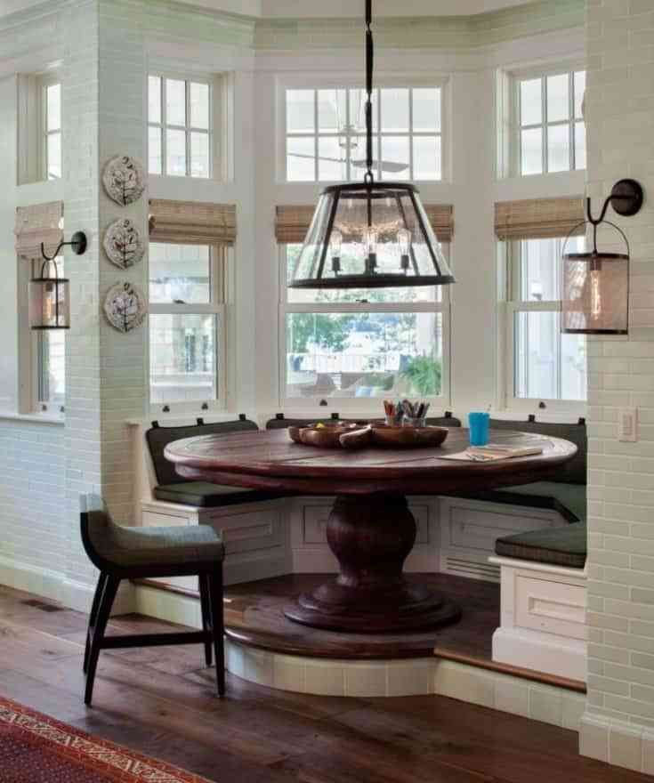 Round Breakfast Nook Table Farmhouse Dining Room Dining Nook