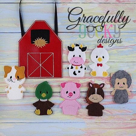 Barn Set Busy Bag Embroidery Design - 5x7 Hoop or Larger