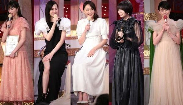 新垣結衣、広瀬すず!豪華女優が華麗なドレスで勢ぞろい…第41回日本アカデミー賞
