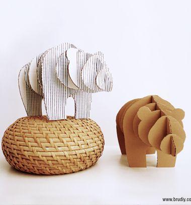 DIY 3D cardboard bear statue (free printable) // 3D medve szobor kartonpapírból (ingyenes sablon) // Mindy - craft tutorial collection // #crafts #DIY #craftTutorial #tutorial #Upcycling #RecyclingCraft #UpcyclingCraft #PaperCraft #KreatívÚjrahasznosítás
